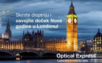 Optical Express vas vodi u London za Novu Godinu