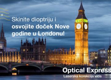 Optical Express vas vodi u London za Novu Godinu
